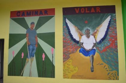 Shot of the murals at Buen Pastor