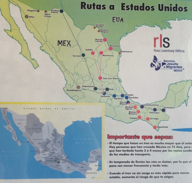 Migration Routes through México. Fray Matias de Córdova Human Rights Center. Tapachula, México. 04 August 2015. Photo by Vanessa Vargas.
