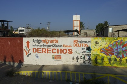 Mural on the Mexican side of the border. Ciudad Hidalgo, México. Photo by Diana Taylor.