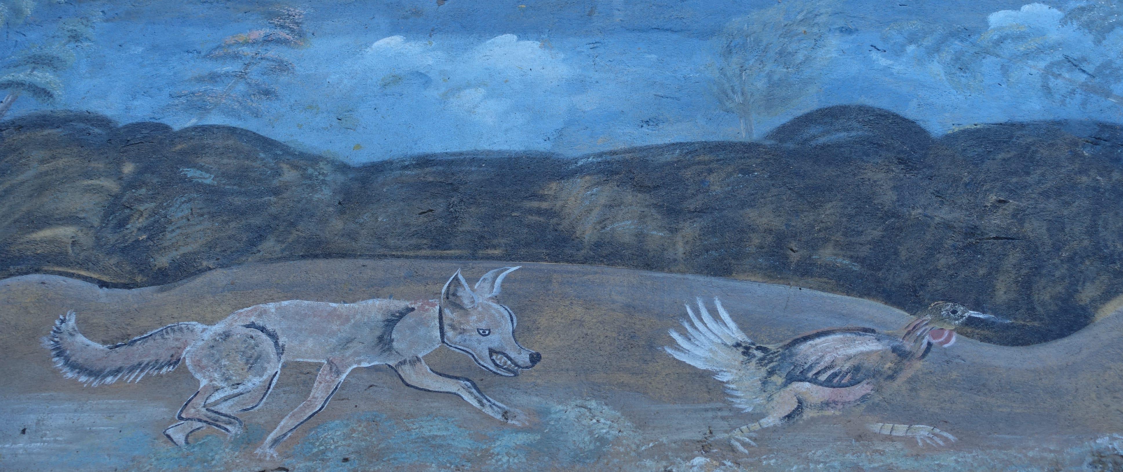 Mural on Paso del Coyote, near the Guatemalan border. Ciudad Hidalgo, México. Photo by Diana Taylor.