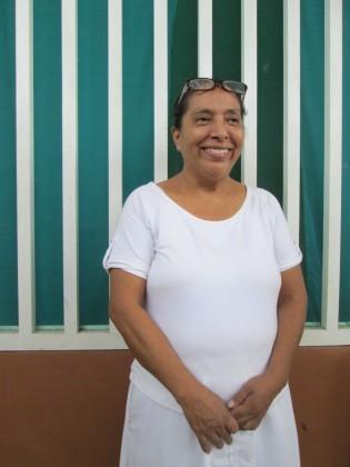 Olga Sánchez Martínez at the migrant shelter she founded and runs - Albergue Jesús el Buen Pastor del Pobre y el Migrante. Tapachula, México. Photo by Diana Gluck.
