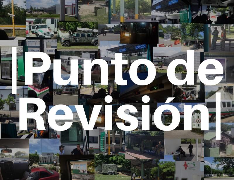 Punto de Revisión. (college of checkpoints by Rita Rita Akroush and Tamara Skubovius)